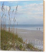 Romantic Secluded Beach Wood Print