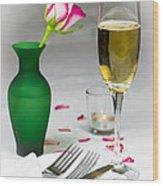 Romantic Setting Wood Print by Donald Davis