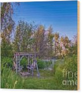 Romantic View By The Methow River Wood Print