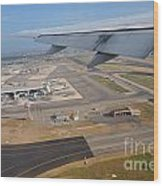 Rome Airport From An Aircraft Wood Print