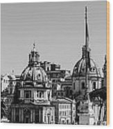 Rome - Cityscape Wood Print