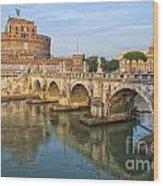 Rome Castel Sant Angelo 01 Wood Print
