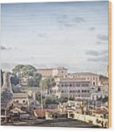 Rome Cityscape Wood Print