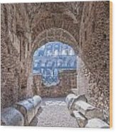 Rome Colosseum Interior 01 Wood Print