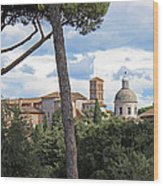Rome Italy Cityscape Wood Print