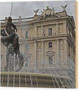 Rome Italy Fountain Naiads Wood Print