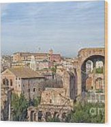 Rome Roman Forum 01 Wood Print
