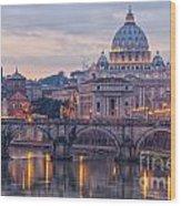 Rome Saint Peters Basilica 01 Wood Print