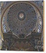Rome Saint Peters Basilica Interior 01 Wood Print