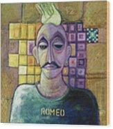 Romeo, 1970 Acrylic & Metal Leaf On Canvas Wood Print