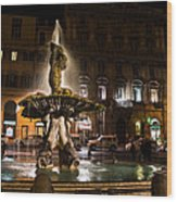 Rome's Fabulous Fountains - Fontana Del Tritone Wood Print