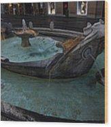 Rome's Fabulous Fountains - Fontana Della Barcaccia - Spanish Steps  Wood Print