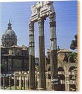 Romr Forum Columns Wood Print