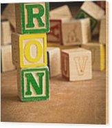 Ron - Alphabet Blocks Wood Print