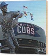 Ron Santo Chicago Cubs Statue Wood Print