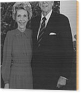 Ronald And Nancy Reagan Wood Print