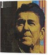 Ronald Reagan Wood Print by Corporate Art Task Force