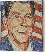 Ronald Wilson Reagan Mosaic Wood Print
