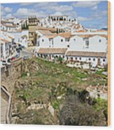 Ronda Old City In Spain Wood Print