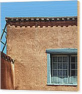 Roof Corner With Ladder And Window Wood Print