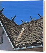 Roof Shingle Wood Print