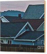 Roof Top Symphony Wood Print