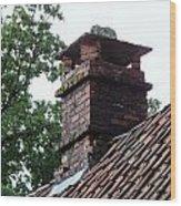 Roof Tops 2 Wood Print