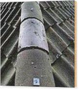 Roof Tops 5 Wood Print