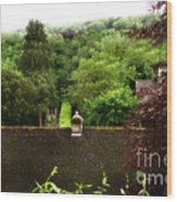 Roof Tops In Countryside Scenery With Trees - Peak District - England Wood Print