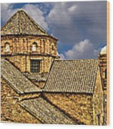 Colonial Roof Wood Print