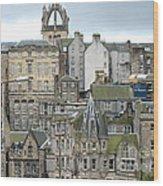 Roofs Of Edinburgh  Wood Print