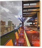 Rooftop Bar Above Eleven In Bangkok Wood Print by Fototrav Print