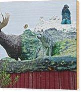 Rooftop Landmark Feature Of Haines Junction-yk Wood Print