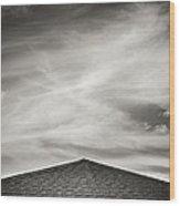 Rooftop Sky Wood Print