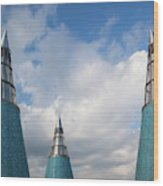 Rooftop Towers At Museum Of Technology Wood Print