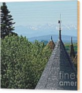 Rooftops Of Carcassonne Wood Print