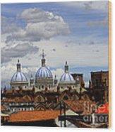 Rooftops Of Cuenca Wood Print