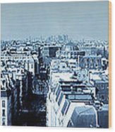 Rooftops Of Paris - Selenium Treatment Wood Print