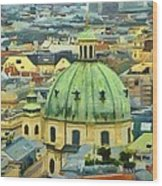 Rooftops Of Vienna Wood Print