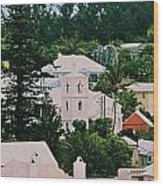 A Unique Aspect Of Rooftops In St. George's,  Bermuda Wood Print