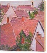 Rooftops Trogir Croatia Wood Print