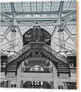 Rookery Building Atrium Wood Print