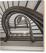 Rookery Building Off Center Oriel Staircase Wood Print