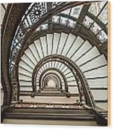 Rookery Building Oriel Staircase Wood Print