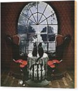 Room Skull Wood Print