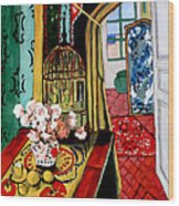 Room With A View After Matisse Wood Print