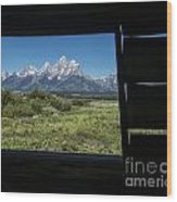 Room With A View Wood Print