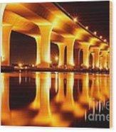 Roosevelt Bridge Wood Print by Lynda Dawson-Youngclaus