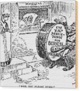 Roosevelt Cartoon, 1908 Wood Print by Granger