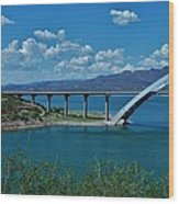 Roosevelt Lake 3 - Arizona Wood Print